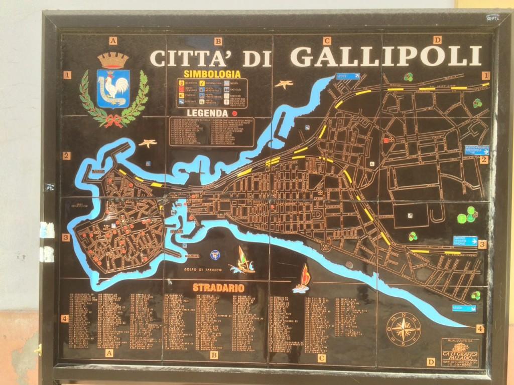 Gallipoli Kaart Puglia Vakanties